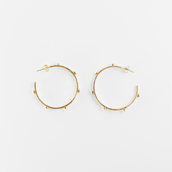 NEW! Cairo Hoop Earrings- Moonstone