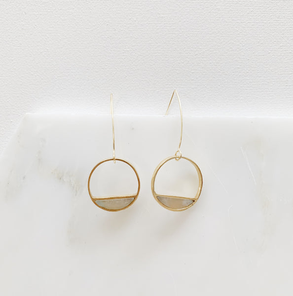 Half-Moon Bay Earrings - Moonstone