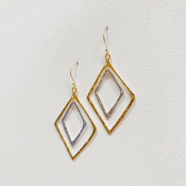Tara Earrings - Mixed Metal