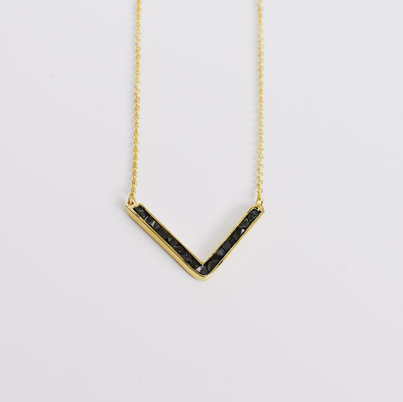 Easton Necklace - Black Deco Diamond