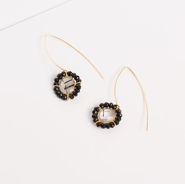 Bosphorus Earrings - Black Oynx