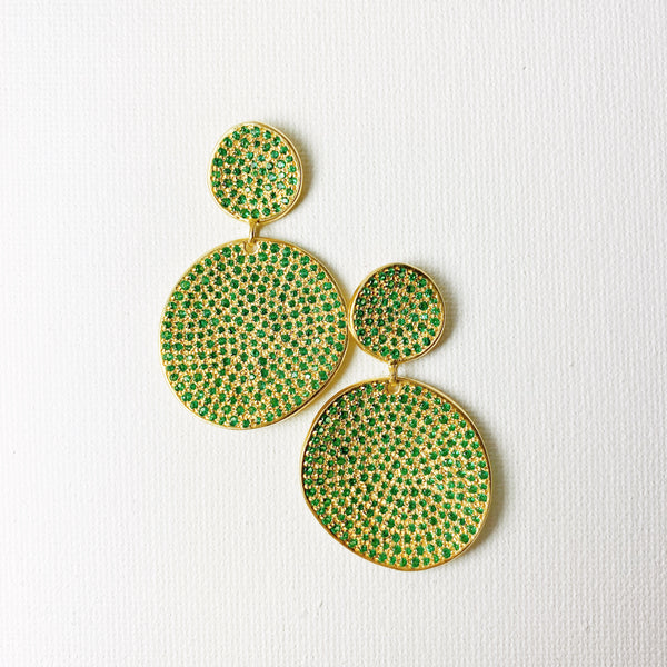 Atelier Rosa Statement Earrings - Emerald