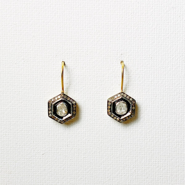 Atelier Heirloom Diamond Hexagon Drop Earrings