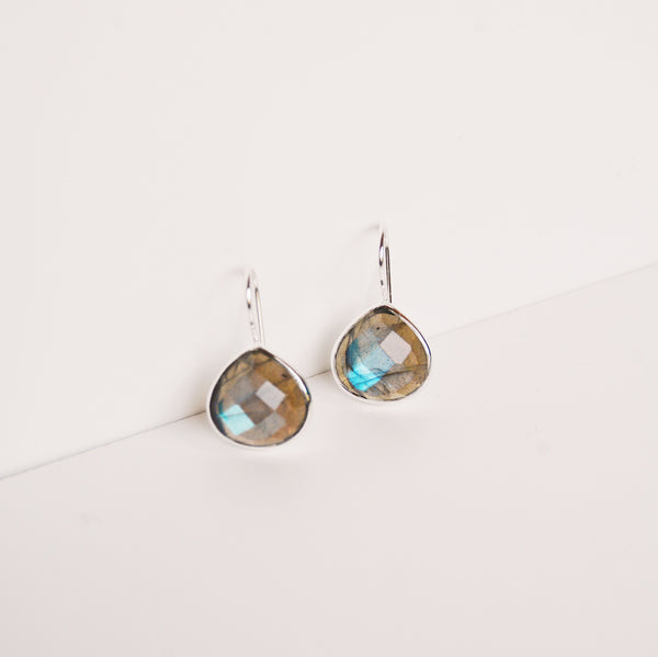 Turks and Caicos Earring - Labradorite/Silver