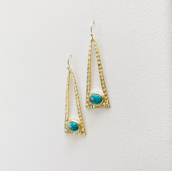 Laine Drop Earrings - Turquoise