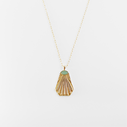 Armand Pendant Necklace - Aqua Chalcedony