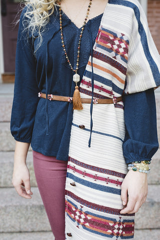 Bohemian Striped Scarf