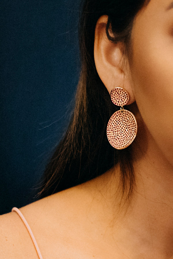 Atelier Rosa Statement Earrings - Ruby