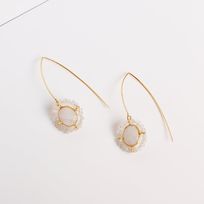 Bosphorus Earrings - Moonstone