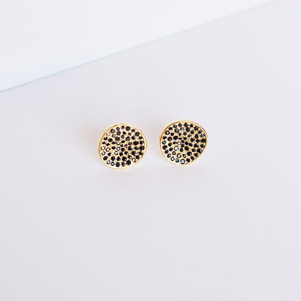 Atelier Rosa Stud Earrings - Black Spinel