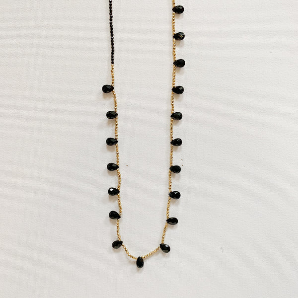 Guinevere Necklace - Black Onyx