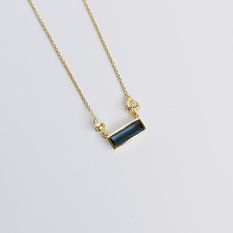 Maya Pendant Necklace - Blue Iolite