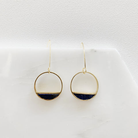 Half-Moon Bay Earrings - Lapis