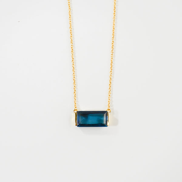 NEW! Sophie Pendant Necklace- Blue Iolite
