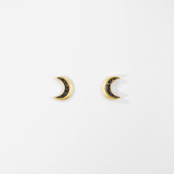 NEW! New Moon Crescent Stud Earrings