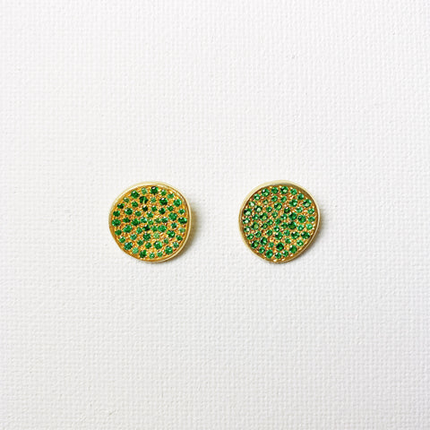 Atelier Rosa Stud Earrings- Emerald