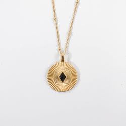 Deco Diamond Nile Pendant Necklace - Black
