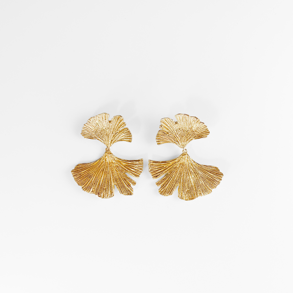 NEW! Gingko Drop Earrings