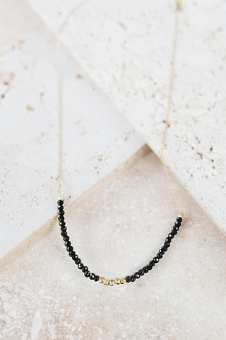 Allegra Necklace- Black Onyx