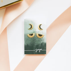 Deco Diamond Sun and Moon Set