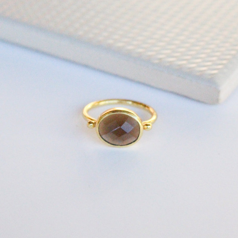 NEW! Cassidy Ring - Smoky Quartz