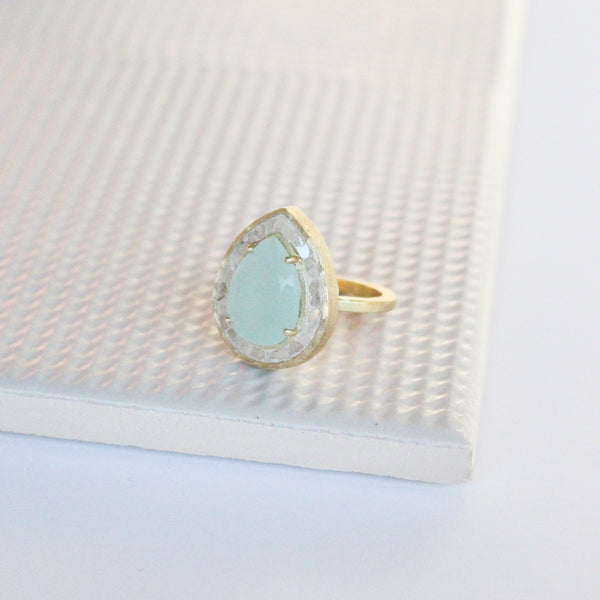 NEW! Celadon Ring - Prehnite