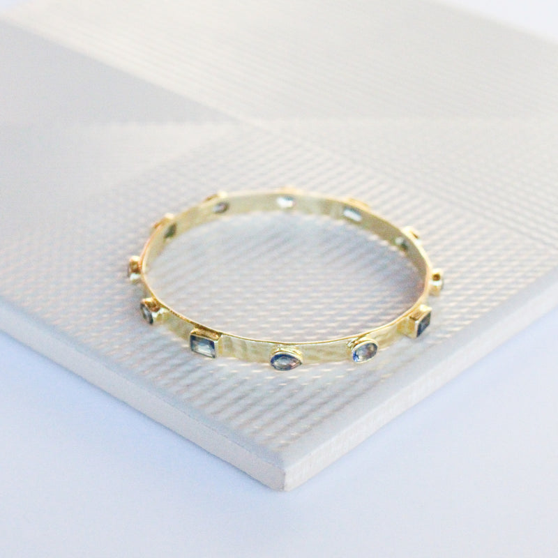 NEW! Zahra Bangle - Blue Iolite