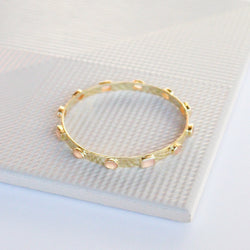 NEW! Zahra Bangle - Peach Moonstone