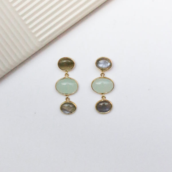 NEW! Darra Earrings - Aqua Chalcedony