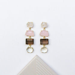 NEW! Alex Earrings - Rose Quartz