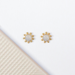 NEW! Cybil Stud Earrings - Moonstone