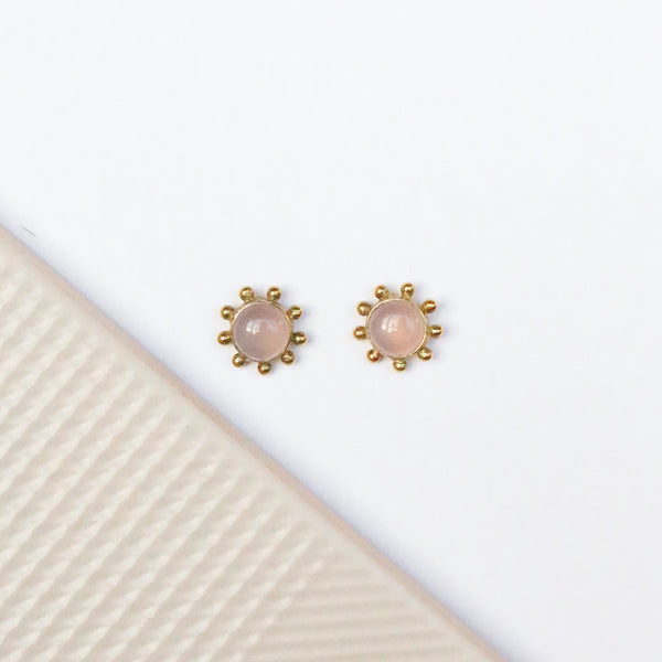NEW! Cybil Stud Earrings - Rose Quartz