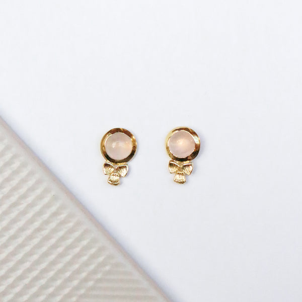 NEW! Winnifred Stud Earrings - Rose Quartz