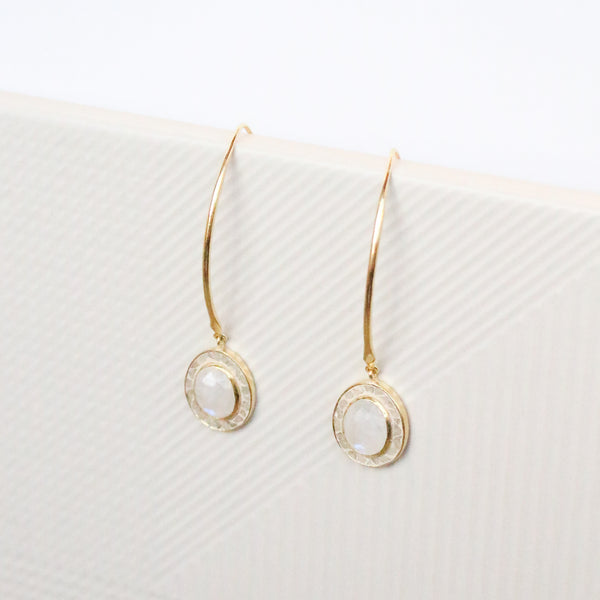 NEW! Lydia Earrings - Moonstone