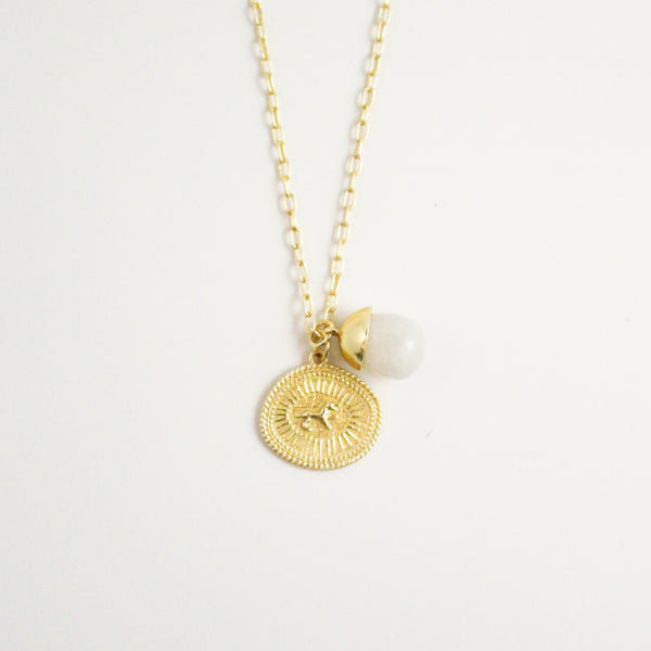 NEW! Ottoman Pendant Necklace - Moonstone