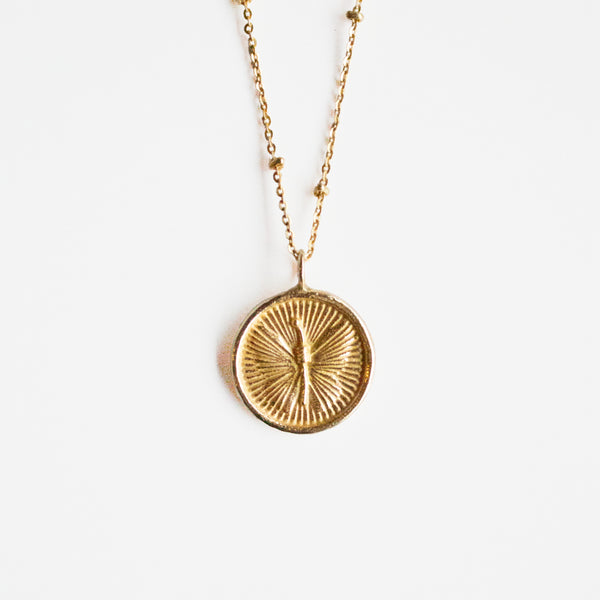 Butterfly Medallion Necklace