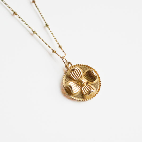 Magnolia Medallion Necklace