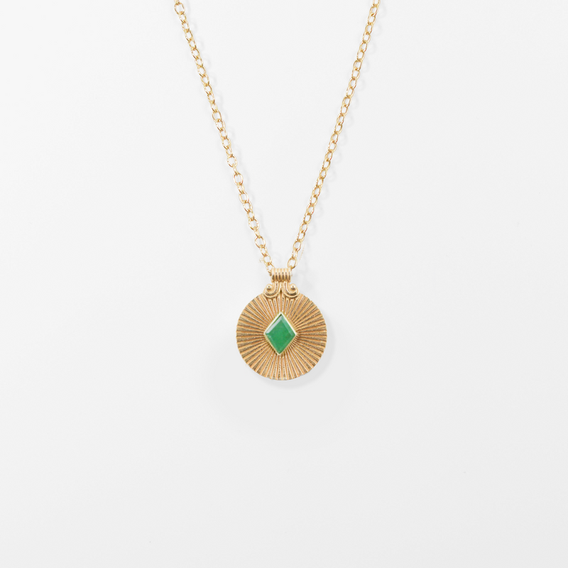 NEW! Birthstone Medallion Necklace