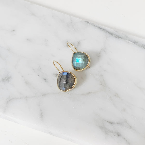 Turks and Caicos Earrings - Gold / Labradorite