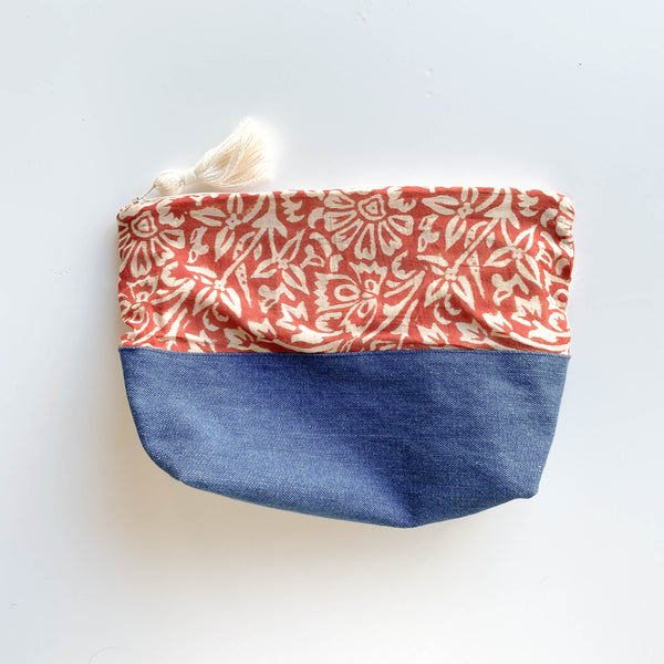 FORAI + Joya Cotton Pouch- Large Cinnamon