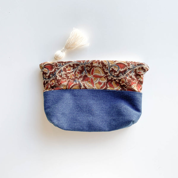 FORAI + Joya Cotton Pouch- Small Cinnamon
