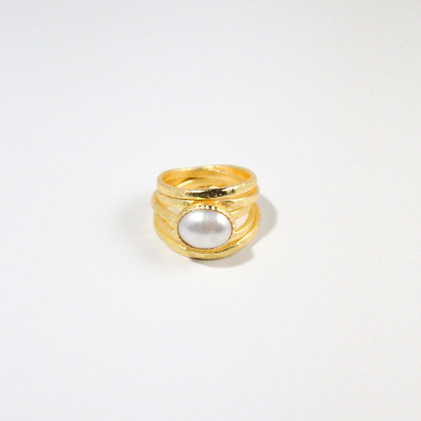 NEW! Rosalind Ring- Freshwater Pearl