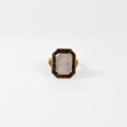 Deco Diamond Victoria Ring - Moonstone