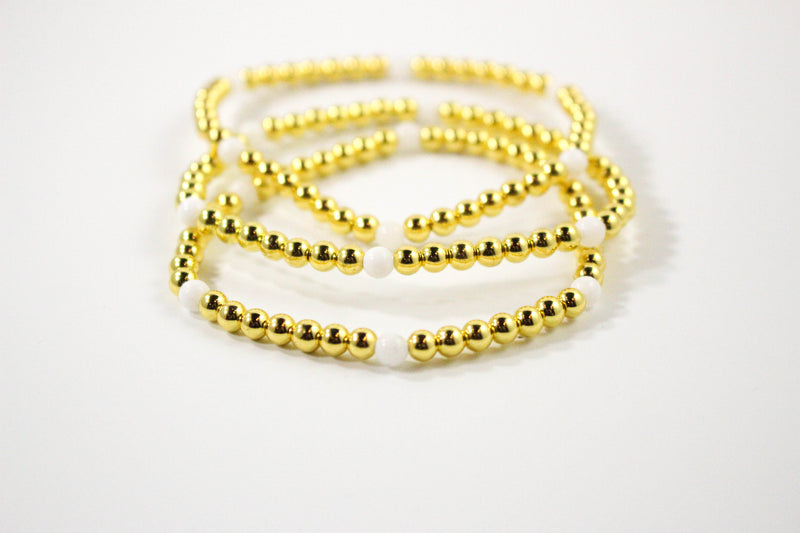 The Royal Bracelet: Gold, White