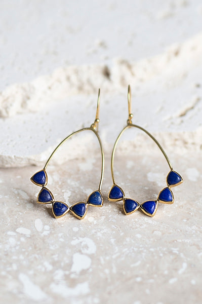 Becca Earrings- Lapis
