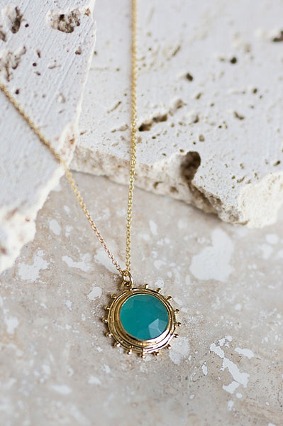 Catalina Necklace- Aqua Chalcedony