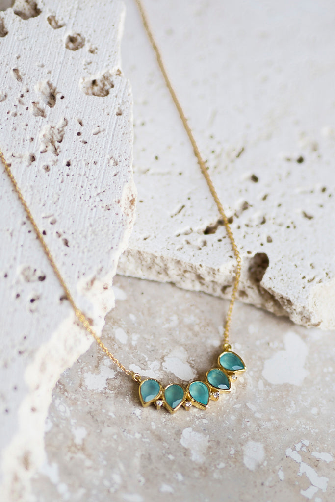 Becca Necklace- Aqua Chalcedony