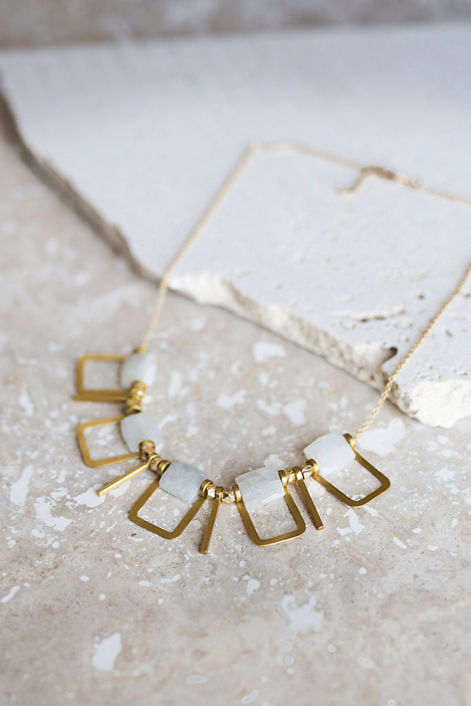 Sandrine Necklace- Moonstone