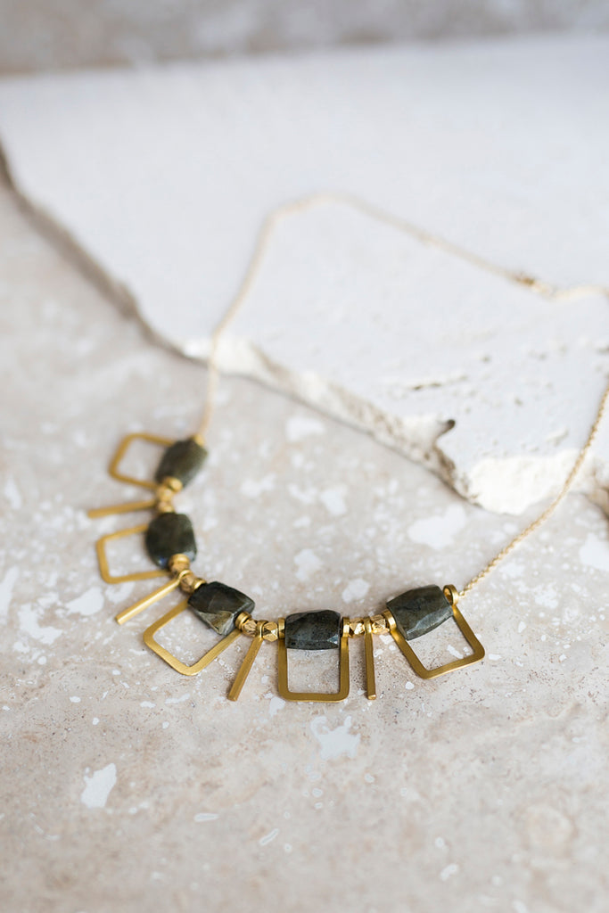 Sandrine Necklace- Labradorite