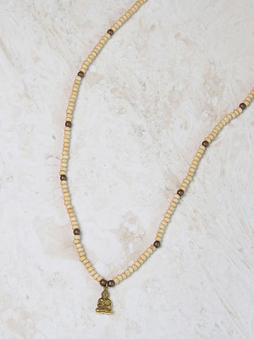 Tibetan Beaded Necklace- Ivory